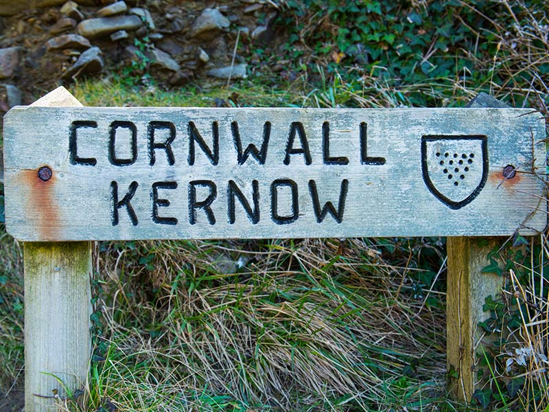 Cornwall Kernow sign