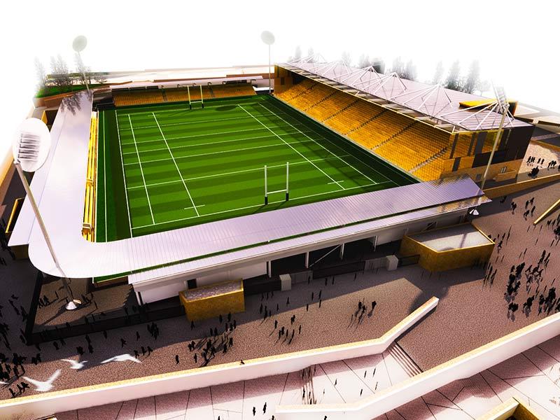 Langarth stadium for cornwall section 01
